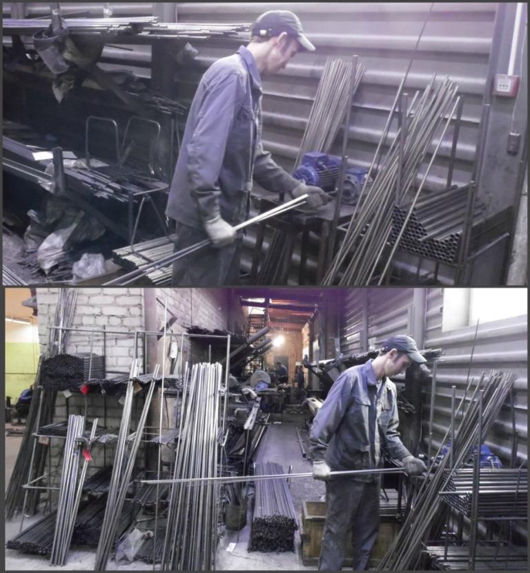 Участок заготовки трубы
